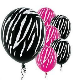 Barbie Silhouette Party Supplies | ... Party Supplies | pink black zebra animal print birthday party supplies