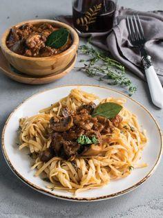 Mushroom ragu pasta - www.