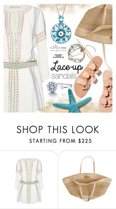 """""""Lace-up Sandals"""" by totwoo ❤ liked on Polyvore featuring Ancient Greek Sandals, Alice + Olivia, Flora Bella and Rika"""