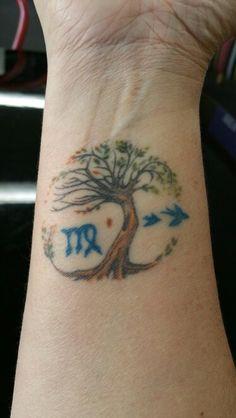 Tree of Life & Virgo sign  (my tattoo on wrist)
