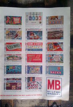Milton Bradley Games / Advertisement / 1960s by Lauralous on Etsy, $7.50
