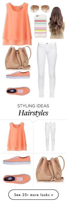 """Untitled #111"" by lalittaaristha on Polyvore featuring Uniqlo, Vans, Kate Spade, Lancaster and rag & bone"