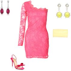 """""""Clear Summer - pink"""" by adriana-cizikova on Polyvore"""