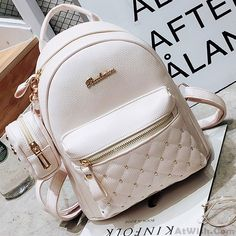Mini Black White Lady Bag Snap Rivets Mesh Lingge PU Backpack Source by Lace Backpack, Retro Backpack, Backpack Bags, Leather Backpack, White Backpack, Messenger Bags, Cute Mini Backpacks, Stylish Backpacks, Girl Backpacks