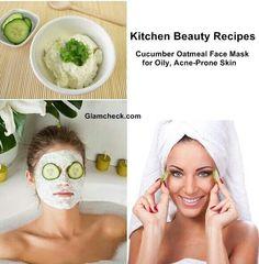 Cucumber oatmeal face mask for acne prone skin