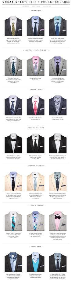 Read this Explaination of The Laws of Men s Fashion from A to Z tie and  pocket square combination rules 4427d6228dd