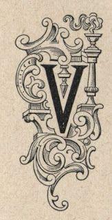 Victorian Vignettes: Initial letter: V