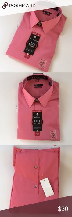 "NWT VanHeusen  X-large men's dress shirt. Slim fit New with tags VanHeusen  X-large men's dress shirt. Slim fit stretch through chest and body . Flex collar. Expandable collar stretches 1/2 "" XL 17 34/35 VANHEUSEN Shirts Dress Shirts"