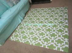 a shower curtain rug, home decor, reupholster, window treatments, You will have the rug you need in your space And you made it yourself
