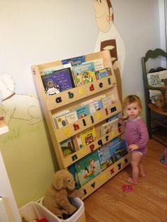 Isla enjoying her Tidy Books Kids Bookcase!  http://www.tidy-books.com