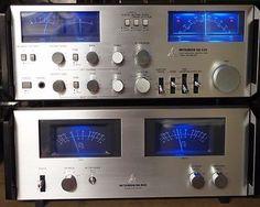 Mitsubishi vintage amplifier set