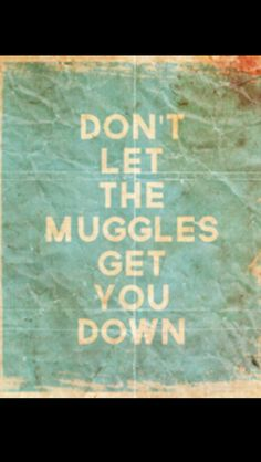 Potterhead #harrypotter Don't let the muggles get you down. :)