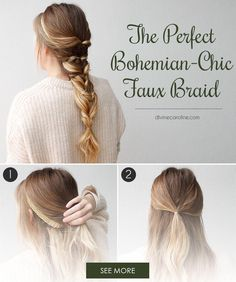 "The best part about this bohemian-chic ""braid"" is that no braiding is required."