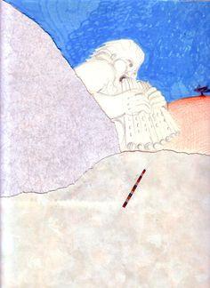 1987_88 GE_SS.GIAFILI  1987_88.3.1_carta lucesa cm. 33 x 21,5 by Brunetto De Batté