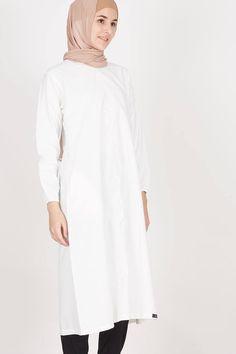 T-Shirt Col V Femme, Blanc (White), LargeIris & Lilly