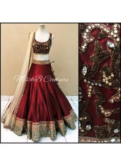 Maroon Beige Zardosi Work Sequin Work Net Banglori Satin Silk Lehenga Choli http://www.angelnx.com/Lehenga-Choli/Wedding-Lehenga-Chol