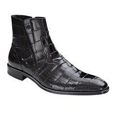 Mezlan of Spain - Black Genuine Alligator Boot