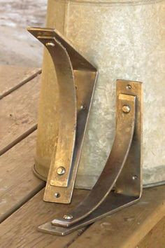 EXTRA LARGE SIZE!!! One (1) bracket. Compare our jumbo Station brackets to our standard Station bracket (far right) by checking out this link: https://www.instagram.com/p/_SX0YyBGW8/?taken-by=adirondack_blacksmith  Purchase a pair in this size here: https://www.etsy.com/listing/261037372/shelf-brackets-corbels-station-grande-o?ref=featured_listings_row  -8 shelf support - 9.75 wall mount surface...2-INCHES WIDE!!! 8-inch (shelf support) Traditional hand forged rustic shelf brackets/corbel…