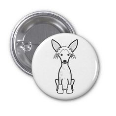 Chinese Crested Dog Cartoon Pin