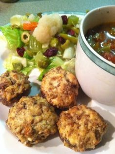 Baked stuffed mushrooms, great flavors, for a meal or appetizers.