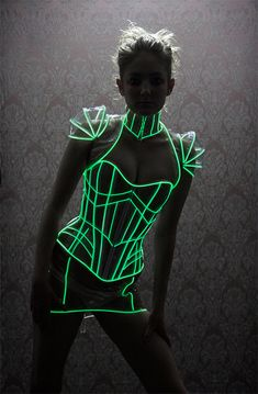 glow in the dark clothes | Glow-in-the-Dark Corset: Light up the Dance Floor, Literally.