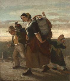Gustave Courbet - La bohémienne et ses enfants