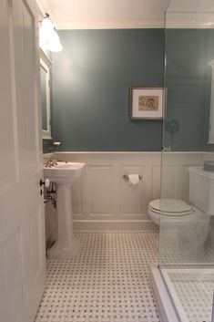 Wainscoting bathroom ideas wainscoting ideas bathroom wainscoting paneling in bathroom ideas beadboard wainscoting bathroom ideas . Bathroom Colors, Bathroom Sets, Small Bathroom, Master Bathroom, Redo Bathroom, Bathroom Inspo, Bathroom Layout, White Bathroom, Bathroom Interior
