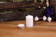 Κεριά Κυλινδρικά Λευκά Φ4x6εκ Pillar Candles, Taper Candles
