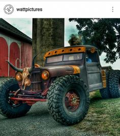 1948 Willys pickup rat by Hauk Jeep Rat Rod, Rat Rod Cars, Hot Rod Trucks, Cool Trucks, Cool Cars, Semi Trucks, Dodge Trucks, Jeep Truck, Custom Trucks
