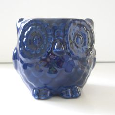 This will be perfect for my mom!     Ceramic Mini Owl Desk Planter Vintage Design in by fruitflypie, $25.00