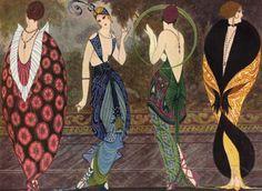 1920s Fashion illustration by Armand Vallée for Fantasio
