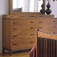 Stickley Metropolitan Double-Dresser Deck (five drawers atop double dresser)