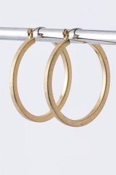 Instant Chic with Matte Gold Hoops http://www.krisandkate.com/dealoftheday.html $17