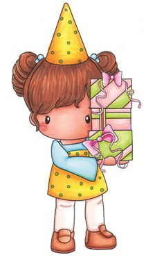 So cute! Birthday Lucy - Swiss Pixies Collection from C.C. Designs  Available for purchase from Loves Rubberstamps