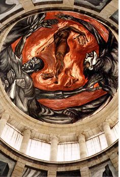 Jose Clemente Orozco - Impressive artwork at Hospicio Caba~nas, in Guadalajara, Jal.