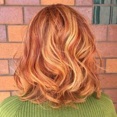 Strawberry Blonde Red Highlights
