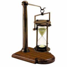 Bronzed 30 Minute Hourglass-Stand
