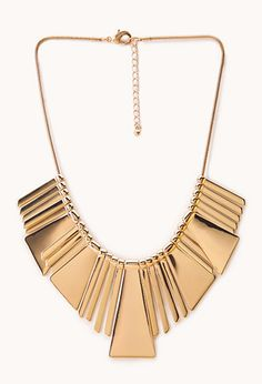 Art Deco Plated Bib Necklace | FOREVER21 - 1000064315