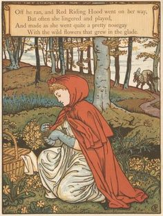 Walter Crane (1845-1915) - Red Riding Hood - 02