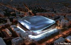 Image 2 of 8 from gallery of gmp Wins Bid to Redevelop Real Madrid's Bernabeu Stadium. Photograph by Real Madrid Real Madrid New Stadium, Real Madrid Club, Madrid Football Club, Soccer Stadium, Football Stadiums, Best Football Team, Basketball, Zinedine Zidane, Modern Architecture