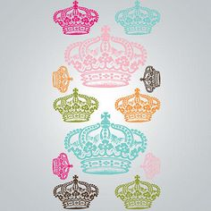 For my inner princess - Rhinestone Crowns Vinyl Wall Decal