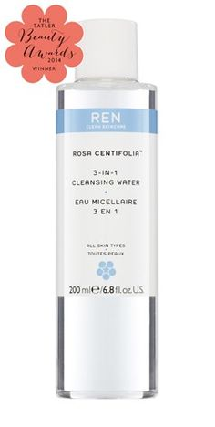 REN - ROSA CENTIFOLIA 3-IN-1 CLEANSING WATER This 3-1 cleansing water is the first product I reach for when I get home after a long day. The multitasking properties mean that I can take off my makeup, cleanse my skin, and tone all at the same time! The ONLY downside is that I sometimes need a little extra help with eyeliner/mascara removal, but this product is great at removing 99% of the day's makeup!  SHOP NOW USING THE CODE PETITEMODERN TO GET 10% OFF YOUR ORDER AT ELEMENTS!
