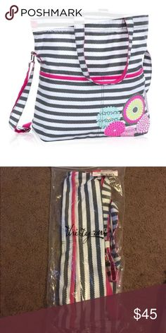 Thirty one retro metro fold over graphic weave Brand new never removed from the package. Comes with the crossbody strap thirty one Bags Crossbody Bags