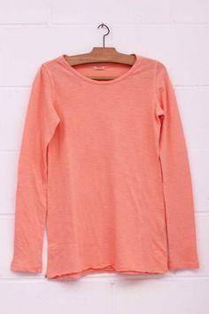 Camiseta básica, Camiseta rosa, pink shirt, long sleeve, manga larga, algodón, System Action, shop online, lookbook, model, street Style, SS2015, PV2015, new collection