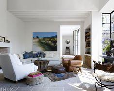 Modern Organic Living Room- ELLEDecor.com