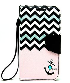 HTC Desire 510 Case, Case Loca Magnetic Leather Flip Wallet Pouch HTC Desire 510, Slim Folio Case with Kickstand, 2 Credit Card Slot Wallet Pouch (Pink Chevron)
