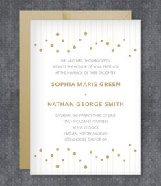 DIY Winspear Gold Wedding Invitation from #downloadandprint. Have this made in your #wedding colors! www.downloadandprint.com http://www.downloadandprint.com/templates/winspear-wedding-invitation-template/ $18.00