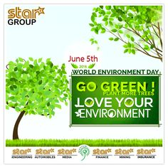 #‎WORLD‬ ‪#‎ENVIRONMENT‬ ‪#‎DAY‬ Go Green! Plant More Trees Love Your Environment
