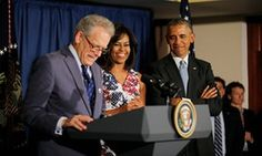 President Barack Obama and Michelle Obama with acting US ambassador to Cuba Jeffrey DeLaurentis in Havana. Republican senators pledged to block his appointment (surprise surprise)