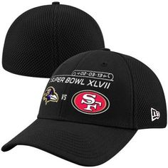 1ad82acb996 New Era San Francisco 49ers vs. Baltimore Ravens Super Bowl XLVII Dueling  Logos 39THIRTY Flex Hat - Black